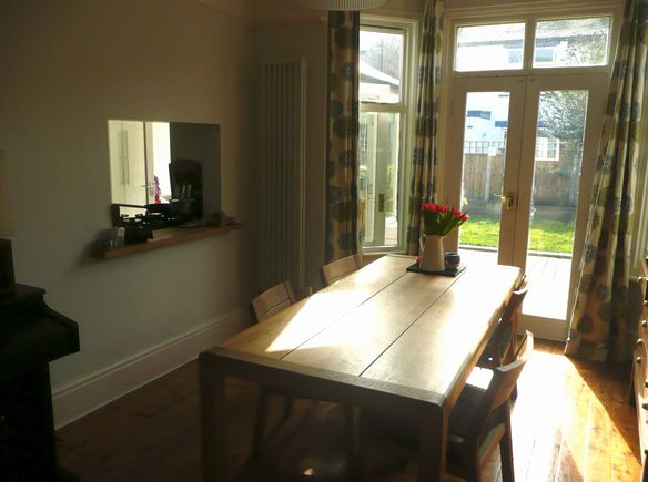 Semi-detached, 3 bedroomed home with nice garden in