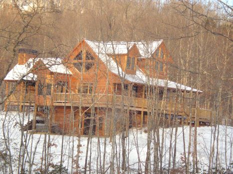 Luxury Log Home Living In North Georgia Mountains Blue