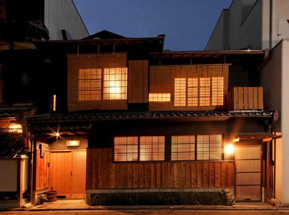 Traditional Japanese House In Historic Kyoto Japan